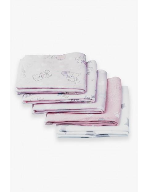 Bawełniane pieluchy z tetry różowe 5pak