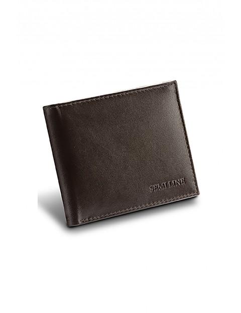 Portfel męski skórzany z opcją RFID brązowy