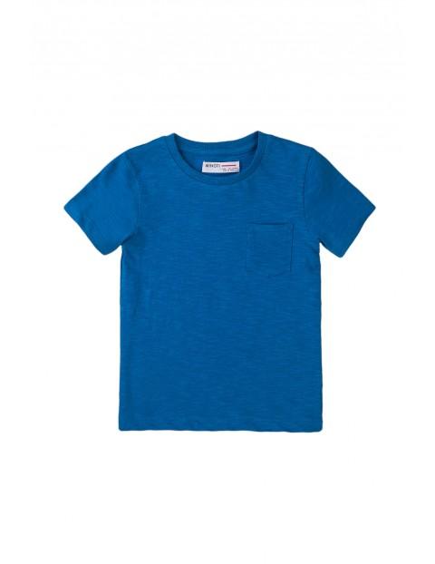 T-shirt chłopięcy bawełniany w kolorze niebieskim