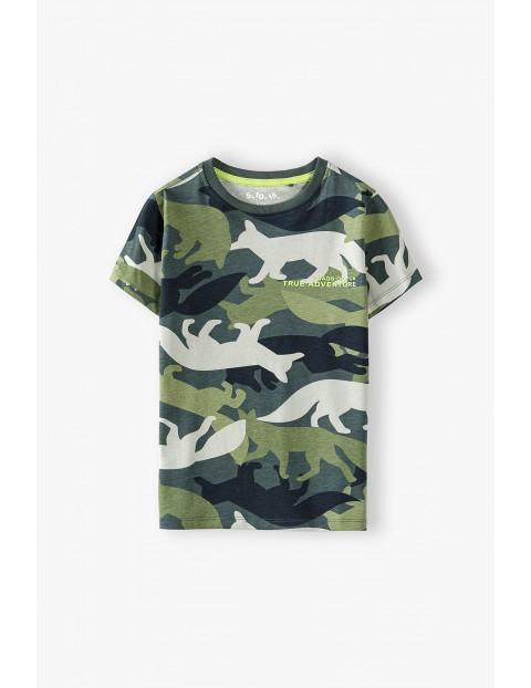 T-shirt chłopięcy bawełniany w liski
