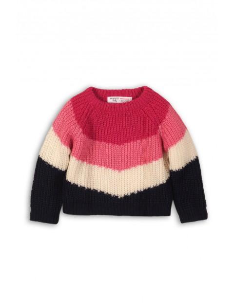 Kolorowy sweterek dla niemowlaka