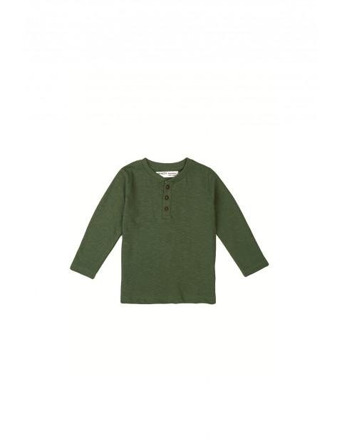 Bluzka niemowlęca bawełniana khaki