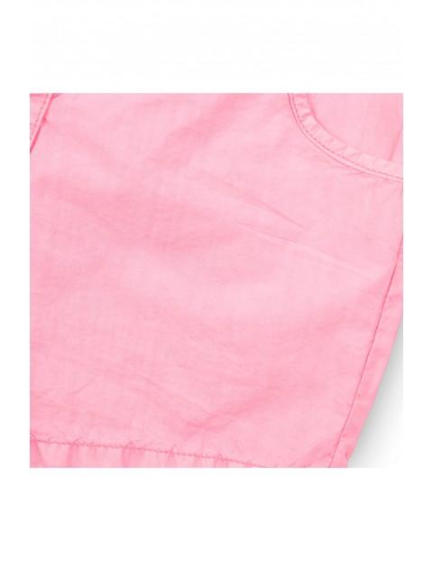 Szorty bawełniane dziewczęce - różowe