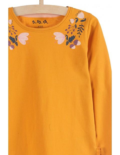Bluzka z długim rękawem- jesienne kolory i nadruki