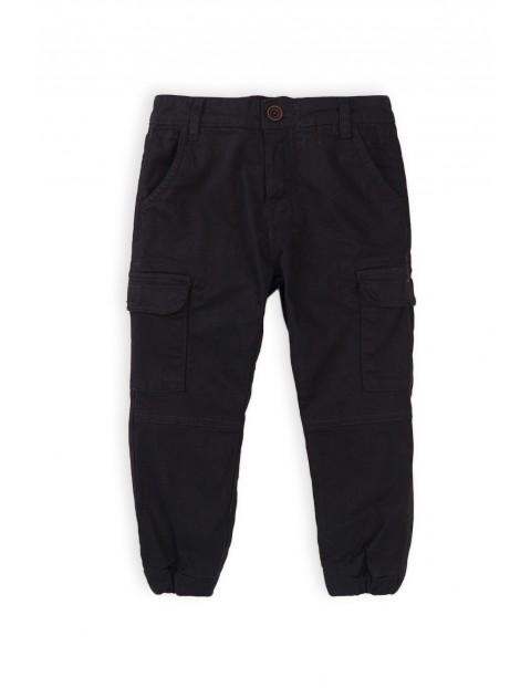 Spodnie chłopięce z kieszeniami czarne bojowki
