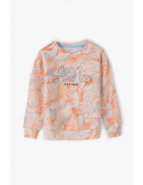 Bluza dresowa dziewczęca z napisem Don't grow up