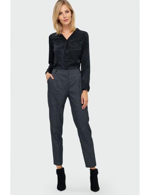 Elegancka bluzka - czarna w panterkę