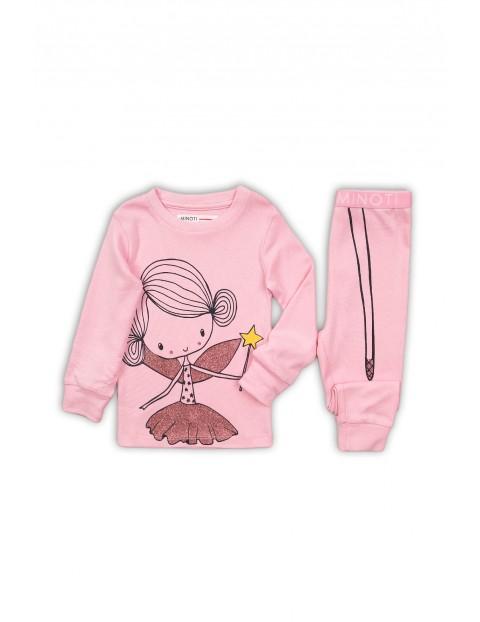 Pidżama dziewczęca z wróżką- różowa