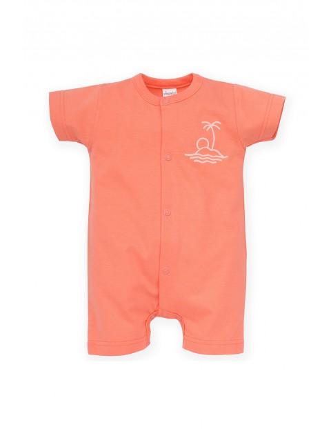 Rampers niemowlęcy pomarańczowy
