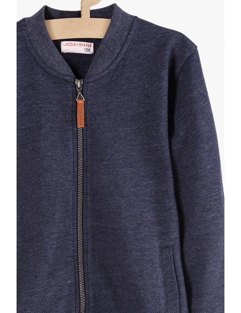 Granatowa bluza dresowa bez kaptura