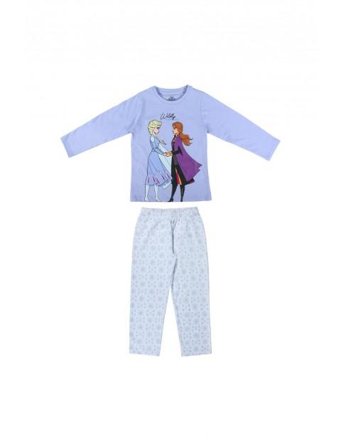 Piżama dziewczęca na długi rękaw Frozen - niebieska