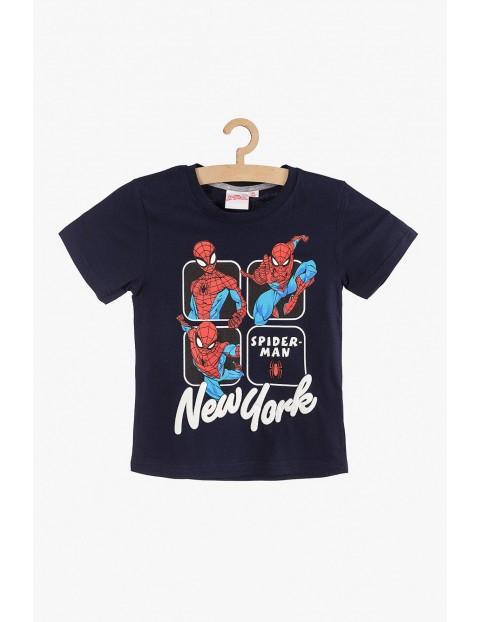 T-Shirt chłopięcy Spiderman granatowy rozm 140