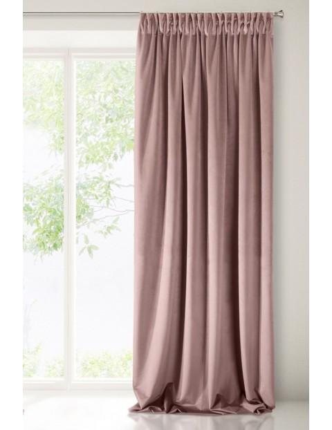 Zasłona jednokolorowa - różowa - 140x170cm