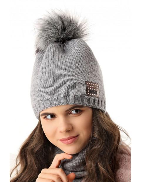 Czapka zimowa dla dziewczynki 4X35AS
