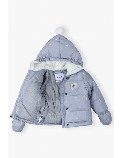 Kombinezon niemowlęcy z kurtką 2w1 - szary
