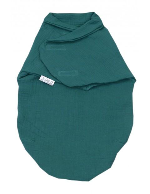 Otulacz niemowlęcy muślinowy - zielony 72x60cm