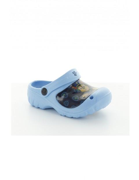 Klapki chłopięce Psi Patrol-niebieskie