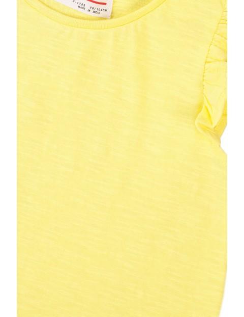 Bawełniana bluzka dziewczęca żółta