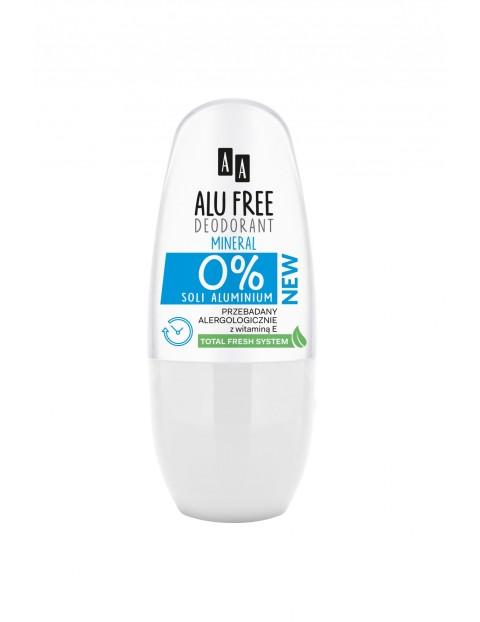 AA Alu Free Deodorant roll-on Mineral bez soli aluminium 50 ml