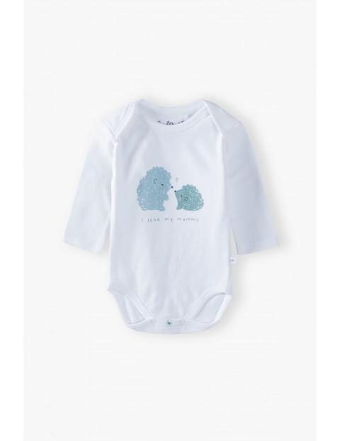 Bawełniane body niemowlęce z długim rękawem