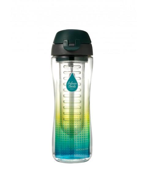 Butelka sportowa z wkładem na owoce lub lód, tritan - zielona  650ml