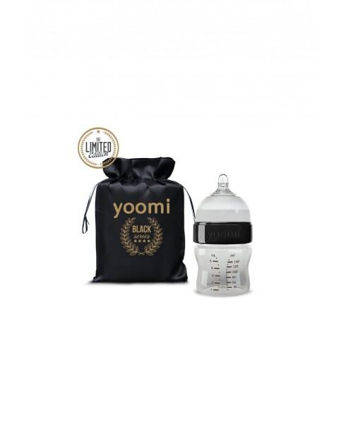Butelka Yoomi Black ze smoczkiem 140ml