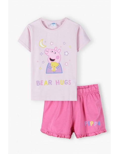 Piżama dziewczęca Świnka Peppa - t-shirt i spodenki