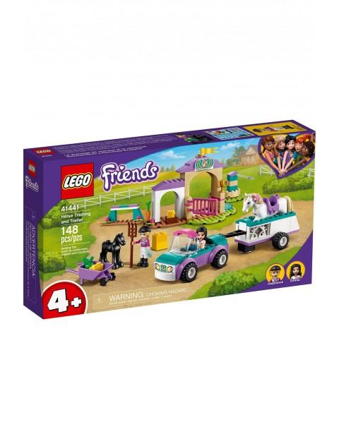 LEGO Friends - Szkółka jeździecka i przyczepa dla konia 41441 - 148 elementów, wiek 4+