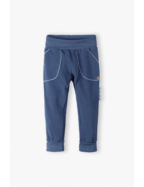 Spodnie dresowe niemowlęce ROSNĘ Z TOBĄ - niebieskie