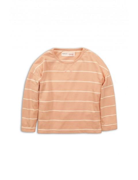 Bluzka niemowlęca brzoskwiniowa w paski