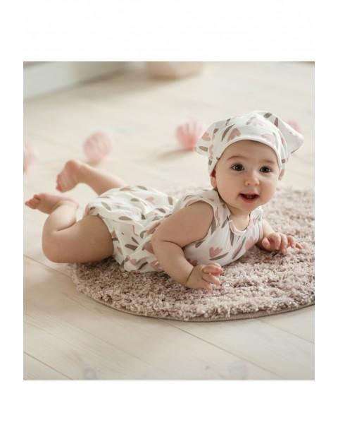 Body niemowlęce na ramiączka ecru