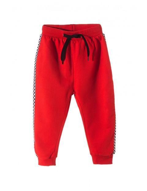Spodnie dresowe- czerwone moto