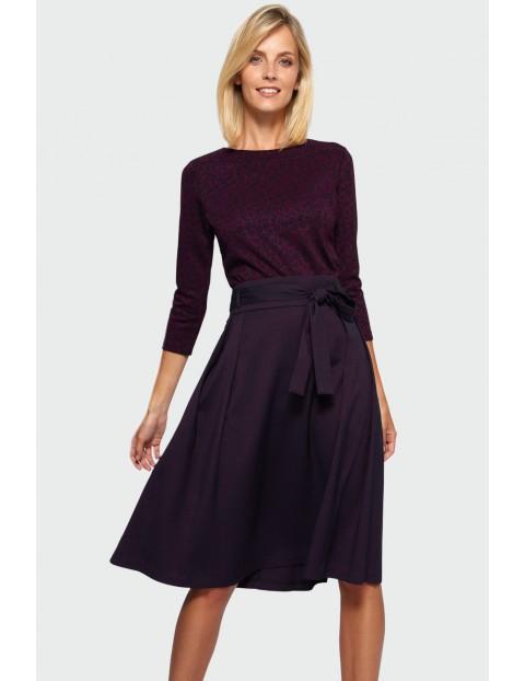 Spódnica damska rozkloszowana - fioletowa