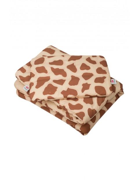 Pościel bawełniana żyrafa 135x100+40x40cm