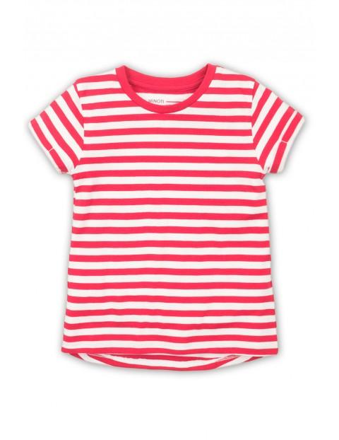 T-Shirt dziewczęcy w czerwono-białe paski