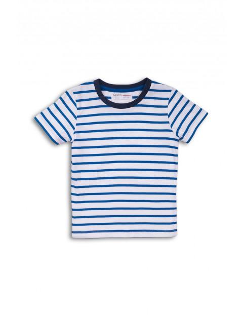T-shirt bawełniany w paski dla niemowlaka