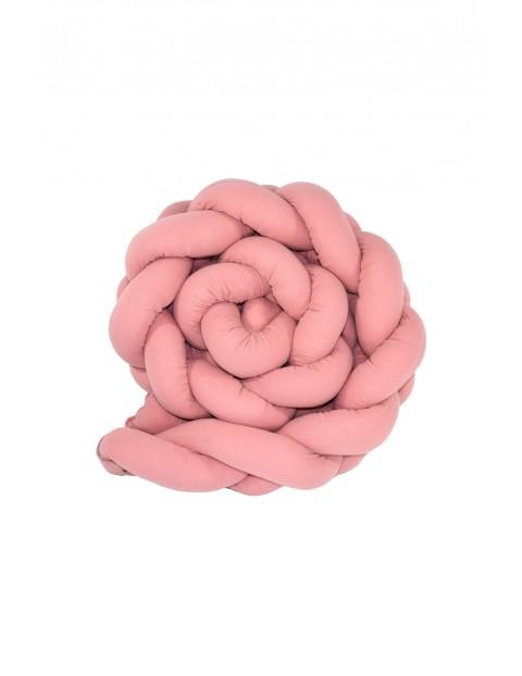 Warkocz ochraniacz bawełniany 210cm - różowy