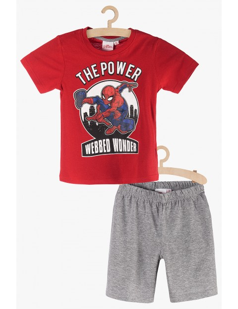 Pidżama chłopięca Spiderman czerwono-szara rozm 140