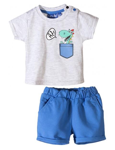 Komplet niemowlęcy- t-shirt i niebieskie spodenki