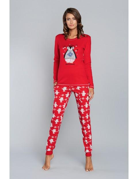 Piżama damska w pingwiny -długi rękaw i spodnie