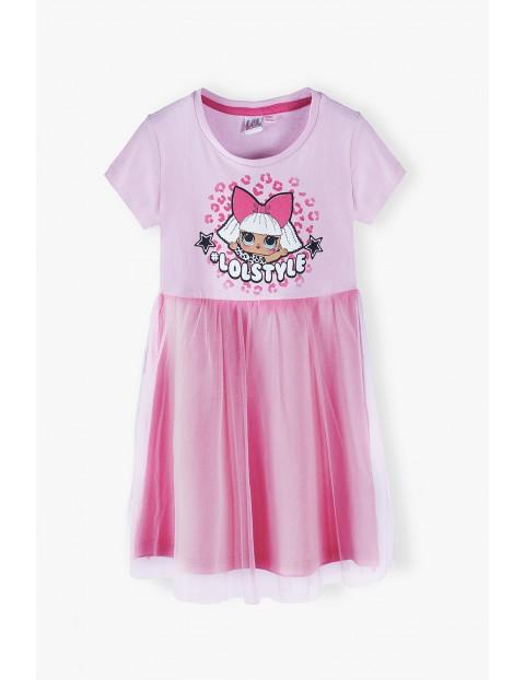 LOL Surprise - sukienka dziewczęca różowa