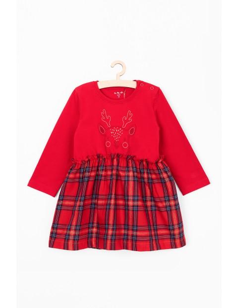 Sukienka dla niemowlaka- czerwona w kratkę