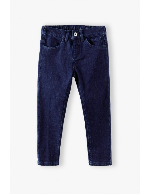 Spodnie chłopięce jeansowe- granatowe