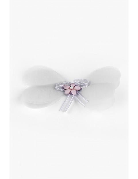Spinka do włosów  dla dziewczynki w kształcie kwiatka - szara