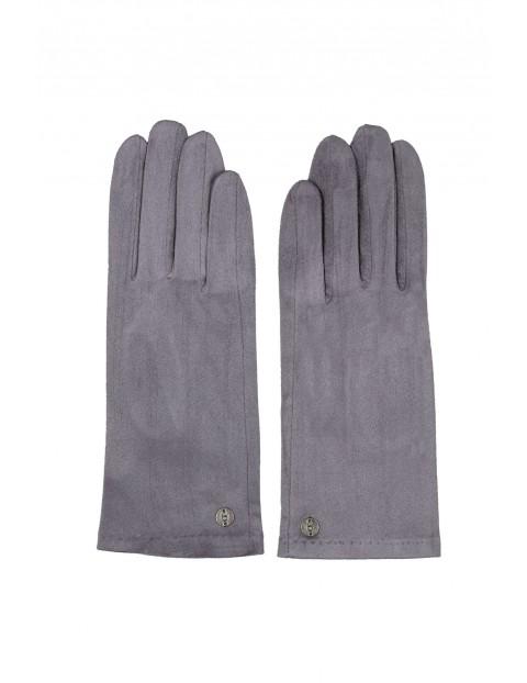 Rękawiczki damskie  - szare