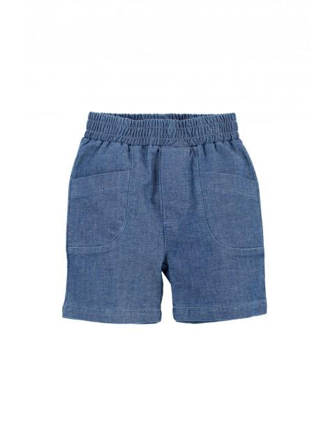 Spodenki krótkie niemowlęce w kolorze niebieskim