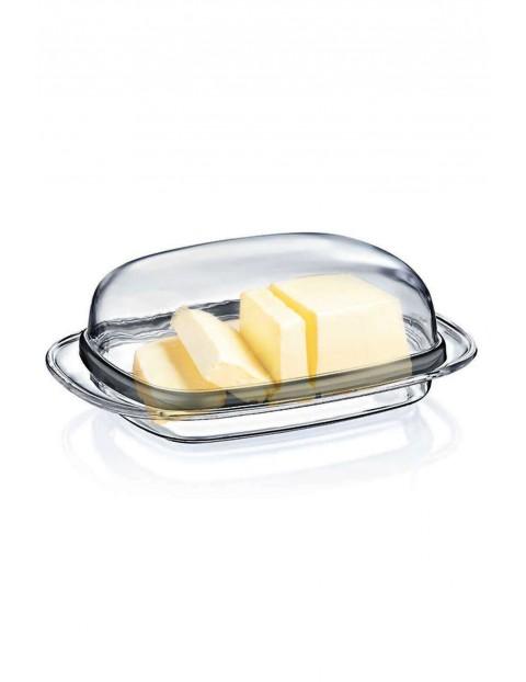 Maselniczka przezroczysta z pokrywką
