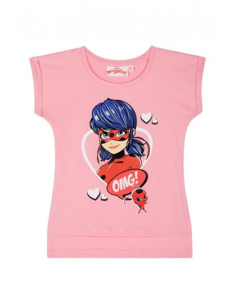 Koszulka dziewczęca różowa- Miraculous