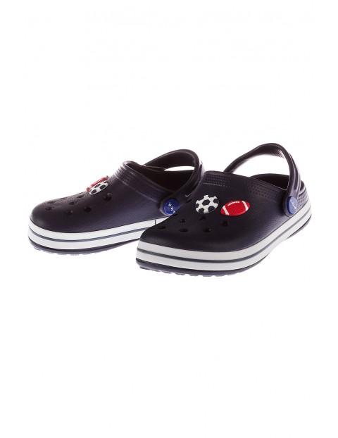 Buty dla chłopca- klapki ogrodowe granatowe