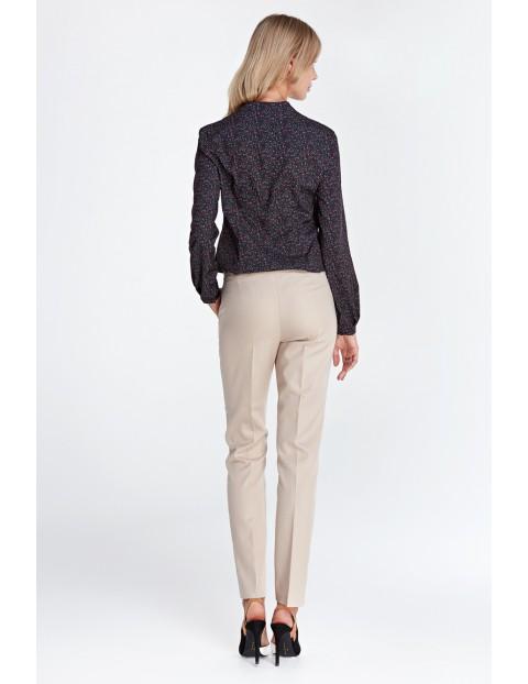 Klasyczne długie spodnie - beżowe